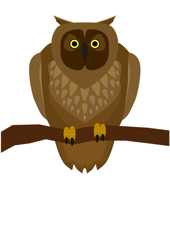 Brown owl clipart