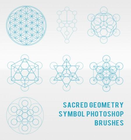 Free Sacred Geometry Symbol Photoshop Brushes