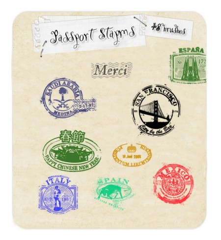 Free Passport Stamp Brushes