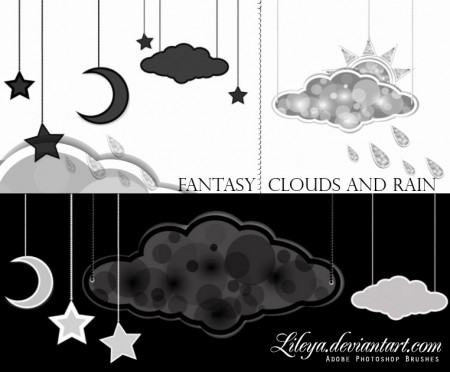 Free Fantasy Clouds and Rain