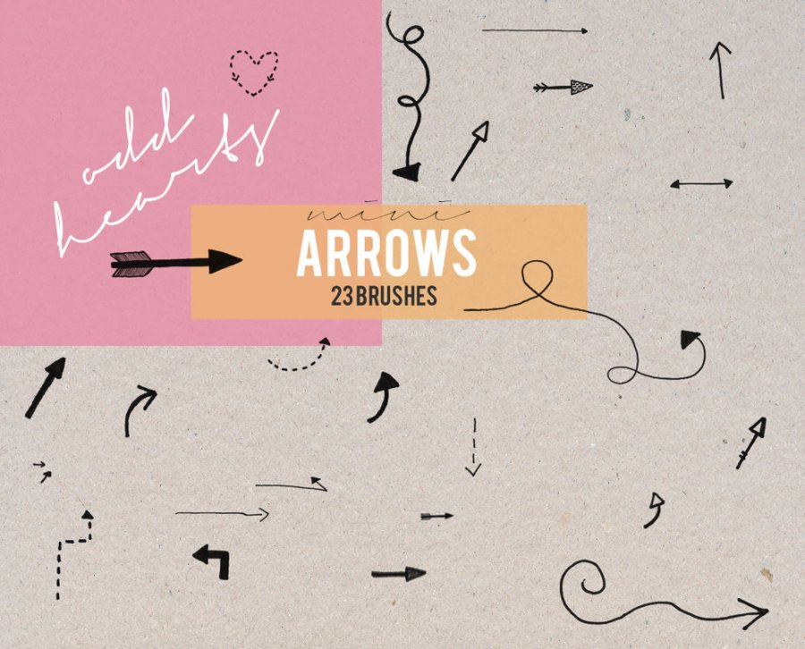 Free Brushes: Mini Arrows - Brushes | Shape | OddHearts