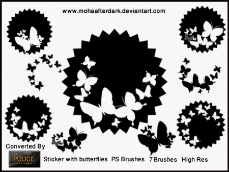 Free Sticker with butterflies