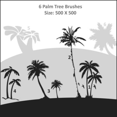 Free Palm Tree Brushes
