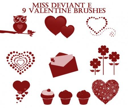 Free Valentine's Day Brushes