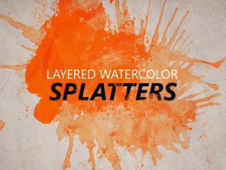 Free Layered Watercolor Splatters