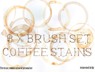Free 8 Coffee Stain Brushes