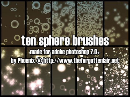 Free Sphere Brushes