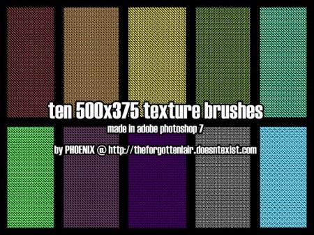 Free 10 Texture + Pattern Brush