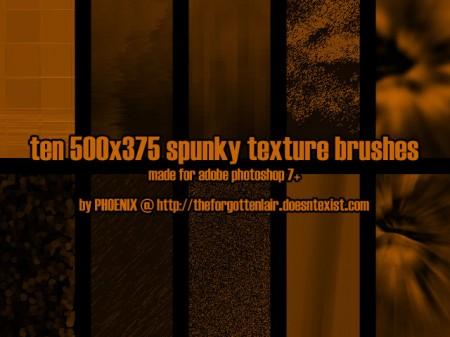 Free 10 Spunky Texture Brush