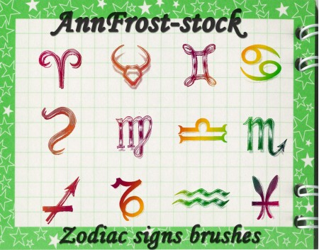 Free Zodiac signs brushes