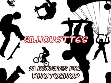 Free Silhouette brushes