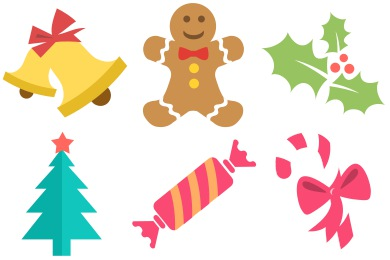 Free Iconset: Flat Christmas Icons by PSDblast