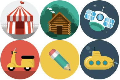 Free Iconset: Flat Icons by Flat-Icons.com