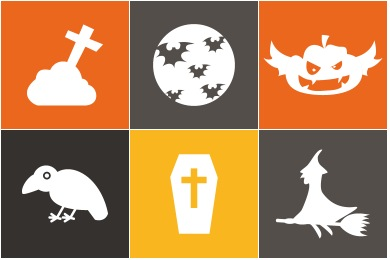Free Iconset: Flat Halloween Icons by uiconstock