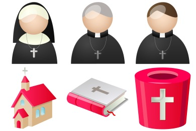 Free Iconset: Religion People Icons by DaPino