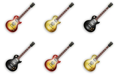 Free Iconset: Les Paul Electric Guitar Icons by Wackypixel