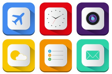 Free Iconset: Long Shadow iOS7 Icons by PelFusion