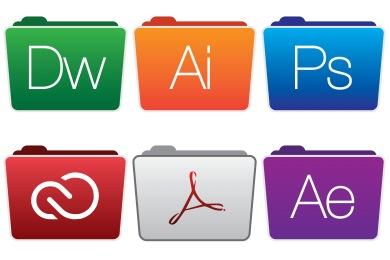 Free Iconset: Adobe Folders Style 2 Icons by Hamza Saleem