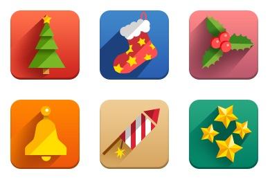 Free Iconset: New Year Flat Icons by BlackSugar