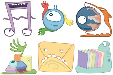 Free Iconset: Monsters Icons by Tatiana Kawkaw