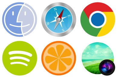 Free Iconset: The Circle Icons by xenatt