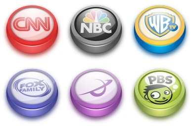 Free Iconset: TV Buttons Icons by Wackypixel