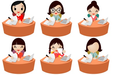 Free Iconset: Office Women Icons by DaPino