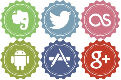 Free Iconset: Vintage Social Icons by Iconstoc