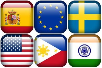 Free Iconset: Flag Borderless Icons by Hopstarter