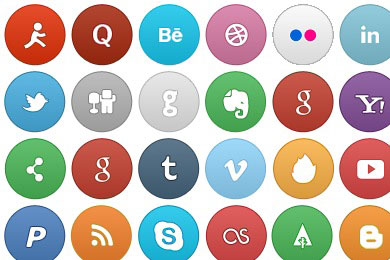 Free Iconset: So Smooth Social Icons by Victor Gonzalez