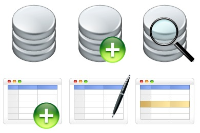 Free Iconset: Database Icons by Fast Icon Design