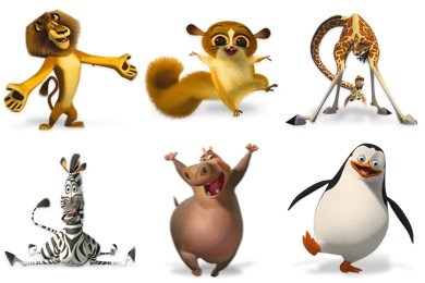 Free Iconset: Madagascar Icons by Wackypixel