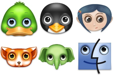 Free Iconset: Zoom Eyed Creatures 2 Icons by TurboMilk