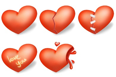 Iconset: Heart Valentines Day Icons by miniartx