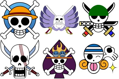 Iconset: One Piece Manga Jolly Roger Icons by Crountch