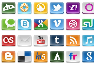 Free Iconset: Free Social Icons by emey87