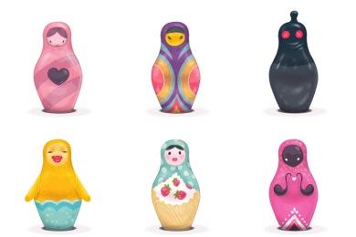 Free Iconset: Matryoshkas Icons by Klukeart