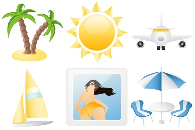 Free Iconset: Summer Holiday Icons by DaPino