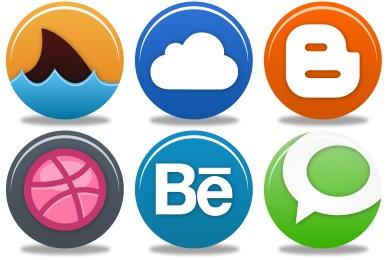 Free Iconset: Pretty Social Media 2 Icons by Custom Icon Design