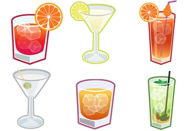 Free Iconset: Cocktails Icons by Joumana Medlej