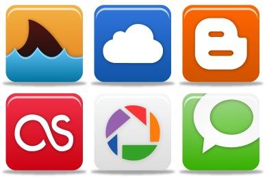 Free Iconset: Pretty Social Media Icons by Custom Icon Design