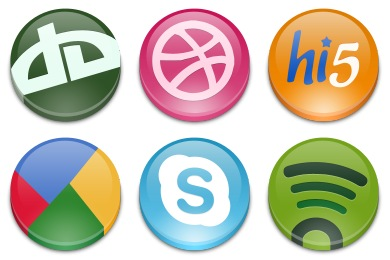 Free Iconset: Social Button Icons by emey87