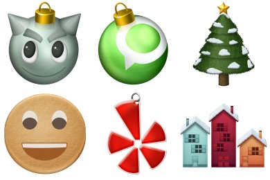 Iconset: Christmas Social Icons by Noctuline