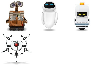 Free Iconset: Wall-E Icons by Noctuline