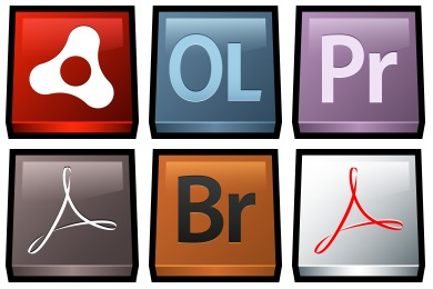 Free Iconset: Gloss Adobe Icons by Hopstarter