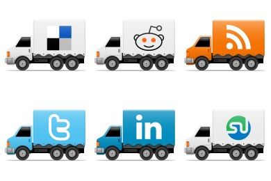 Free Iconset: Social Trucks Icons by Cute Little Factory