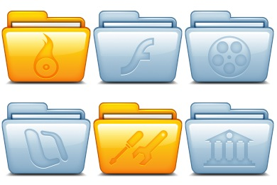 Free Icons: Iconset: Mac Folders Icons by Hopstarter | Computers