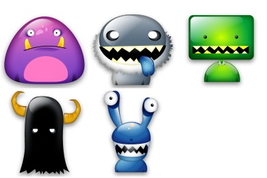 Free Iconset: Monster Icons by Iconshock