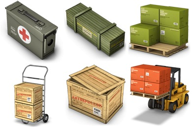 Free Iconset: Cargo Boxes Icons by Antrepo
