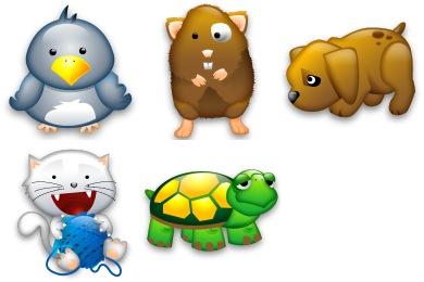 Free Icons: Iconset: Tiny Animals Icons by Iconshock | Animals